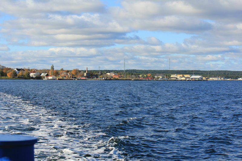 Fårösund från färjan. Foto: Arne Eklund