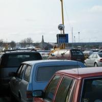Bilar på färjan. Foto: Arne Eklund